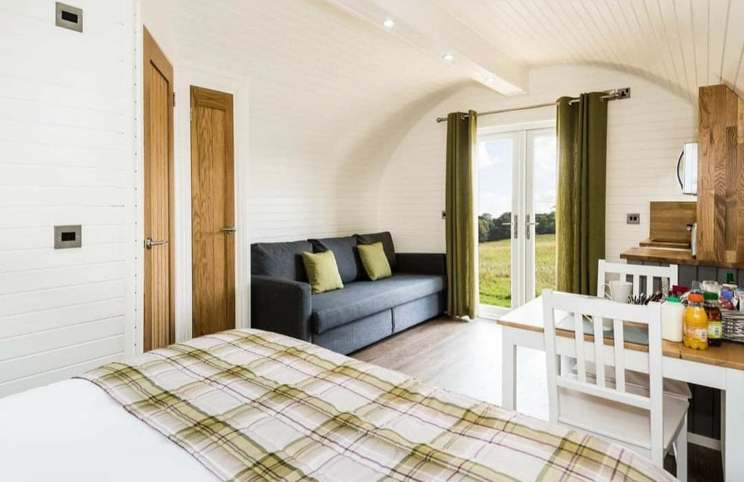 Our Luxury Shepherds Hut style Glamping Pod Interior